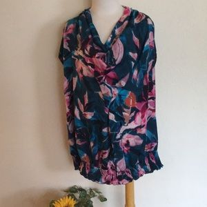 Lane Bryant Silky Loose Scoop Blouse 22/24W